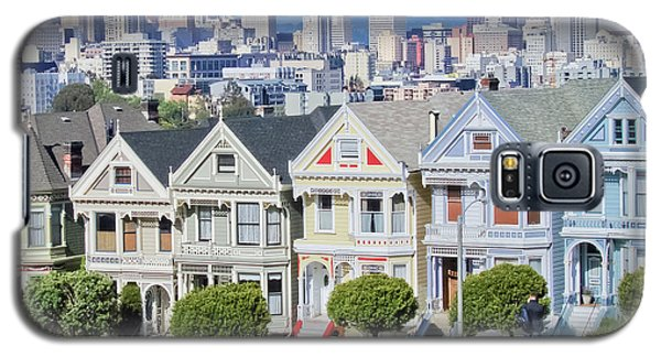 Galaxy S5 Case featuring the photograph Alamo Square by Matthew Bamberg