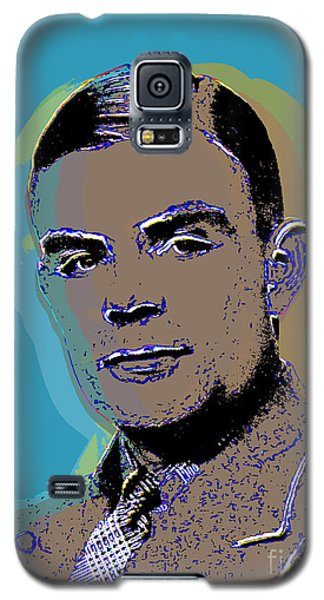 Galaxy S5 Case featuring the digital art Alan Turing by Jean luc Comperat