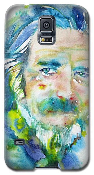 Galaxy S5 Case featuring the painting Alan Watts - Watercolor Portrait.4 by Fabrizio Cassetta