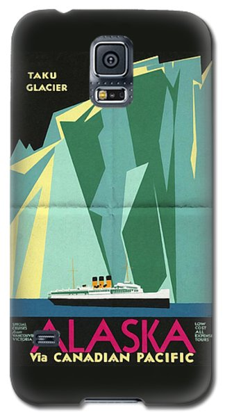 Alaska Canadian Pacific - Vintage Poster Folded Galaxy S5 Case