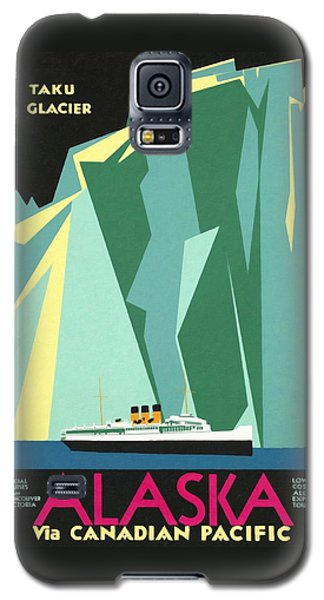Alaska Canadian Pacific - Vintage Poster Restored Galaxy S5 Case