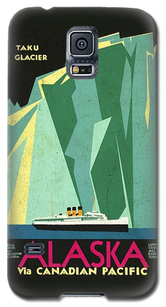 Alaska Canadian Pacific - Vintage Poster Vintagelized Galaxy S5 Case