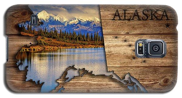 Alaska Map Collage Galaxy S5 Case
