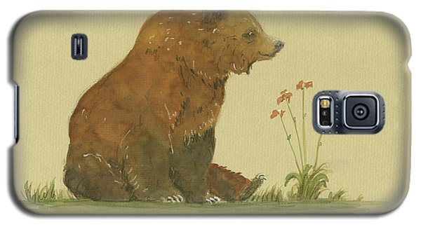 Alaskan Grizzly Bear Galaxy S5 Case by Juan Bosco