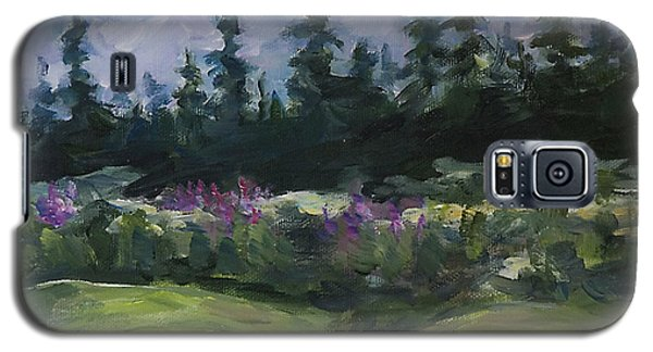 Galaxy S5 Case featuring the painting Alaskan Woods by Yulia Kazansky