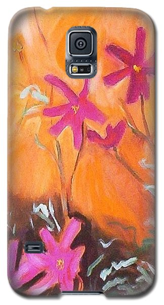 Galaxy S5 Case featuring the painting Alba Daisies by Winsome Gunning