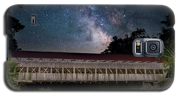 Albany Covered Bridge Under The Milky Way Galaxy S5 Case