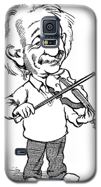 Violin Galaxy S5 Case - Albert Einstein (1879-1955) by Granger
