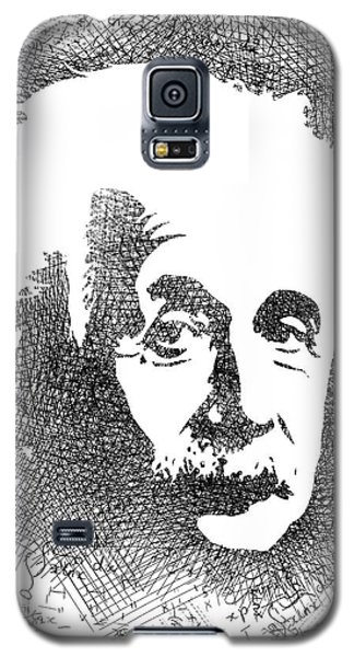 Albert Einstein Bw  Galaxy S5 Case by Mihaela Pater