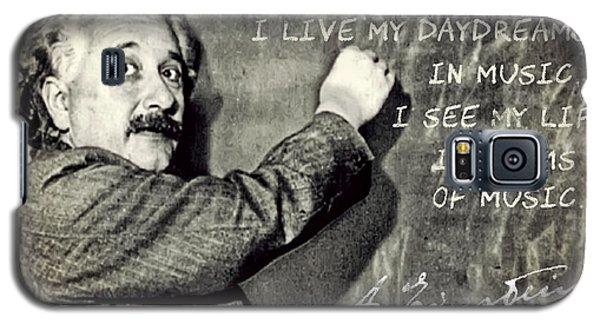 Albert Einstein, Physicist Who Loved Music Galaxy S5 Case