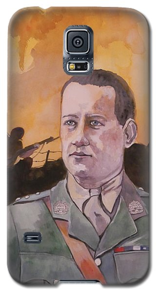 Galaxy S5 Case featuring the painting Albert Jaka Vc by Ray Agius