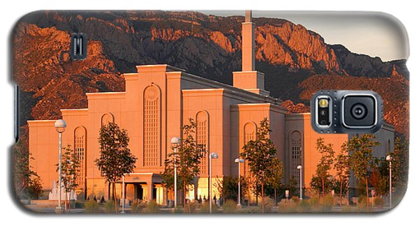 Albuquerque Lds Temple At Sunset 1 Galaxy S5 Case