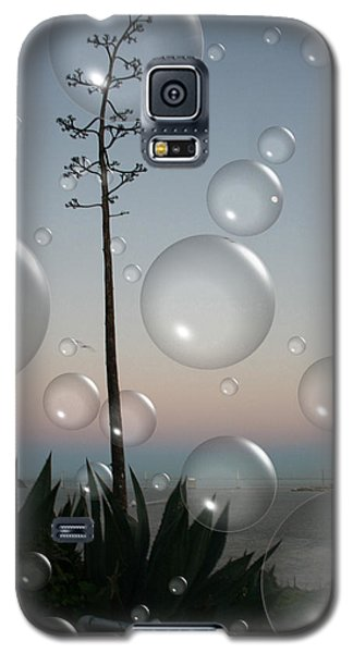 Galaxy S5 Case featuring the digital art Alca Bubbles by Holly Ethan