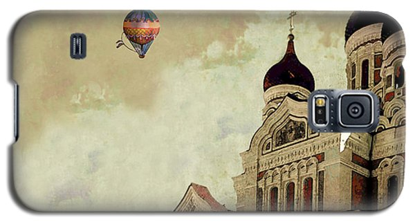 Galaxy S5 Case featuring the digital art Alexander Nevsky Cathedral In Tallin, Estonia, My Memory. by Jeff Burgess