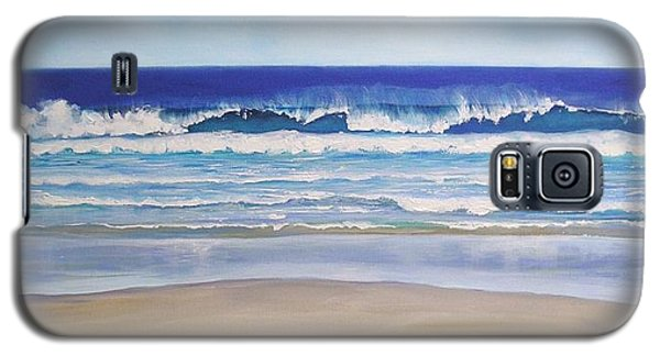 Galaxy S5 Case featuring the painting Alexandra Bay Noosa Heads Queensland Australia by Chris Hobel