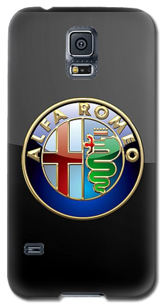 Alfa Romeo - 3 D Badge On Black Galaxy S5 Case