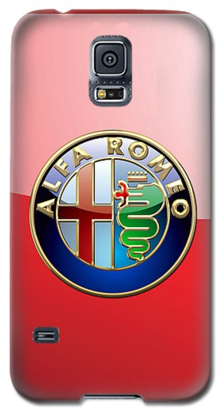 Alfa Romeo - 3d Badge On Red Galaxy S5 Case