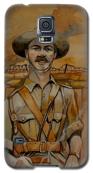 Galaxy S5 Case featuring the painting Alfred Shout Vc by Ray Agius