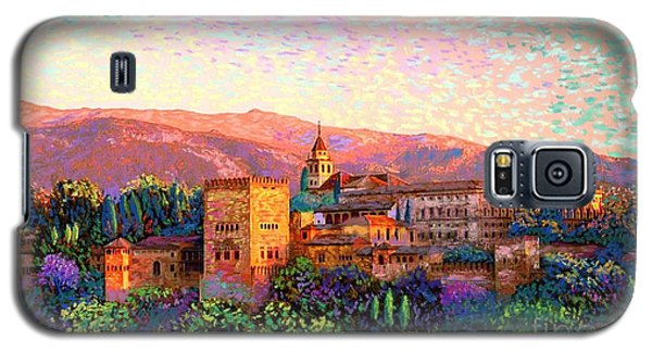 Galaxy S5 Case featuring the painting Alhambra, Grenada, Spain by Jane Small