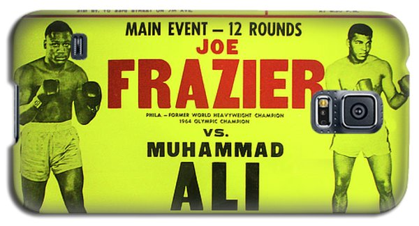 Boxing Muhammad Ali Galaxy S5 Case - Ali Vs Frazier Boxing Poster by Digital Reproductions
