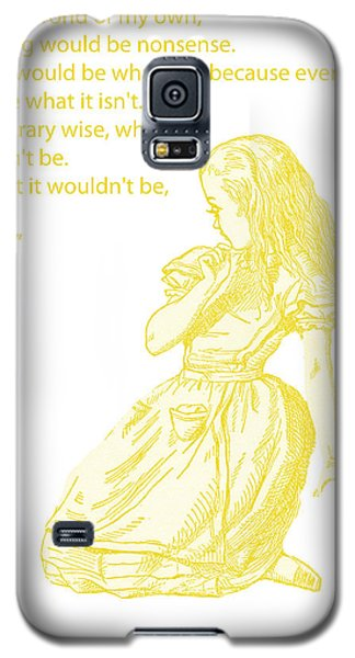 Alice In Wonderland - If I Had A World Of My Own Galaxy S5 Case