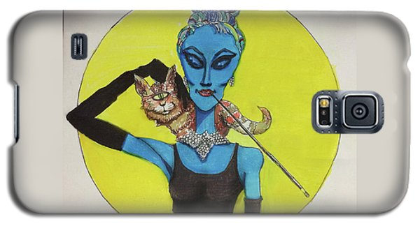 Galaxy S5 Case featuring the painting Alien At Tiffany's by Similar Alien