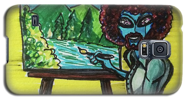 alien Bob Ross Galaxy S5 Case