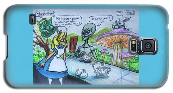 Alien In Wonderland Galaxy S5 Case by Similar Alien