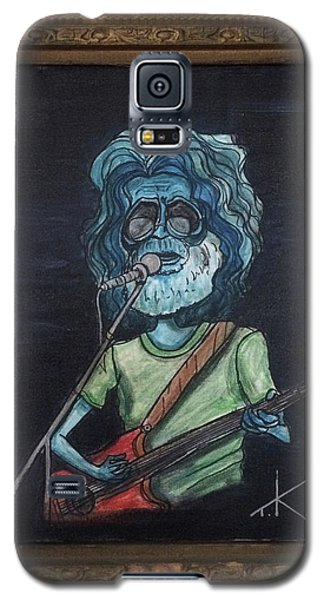 Galaxy S5 Case featuring the painting Alien Jerry Garcia by Similar Alien