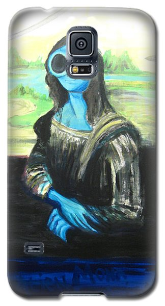 Galaxy S5 Case featuring the painting alien Mona Lisa by Similar Alien