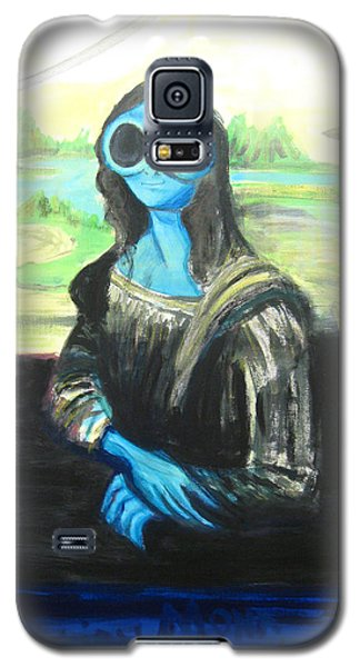 alien Mona Lisa Galaxy S5 Case