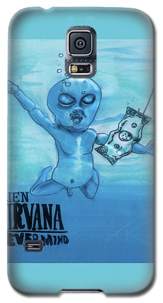 Galaxy S5 Case featuring the painting Alien Nevermind by Similar Alien