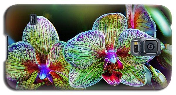 Orchid Galaxy S5 Case - Alien Orchids by Bill Tiepelman