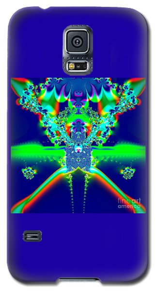 Alien Poodle Fractal 96 Galaxy S5 Case by Rose Santuci-Sofranko