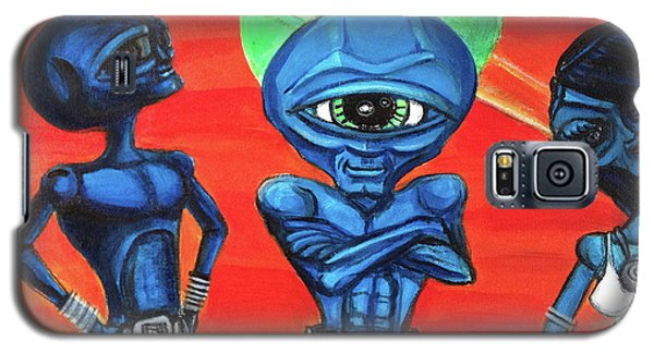 Galaxy S5 Case featuring the painting Alien Posse by Similar Alien