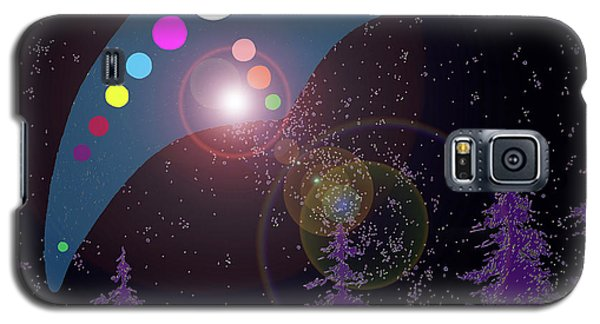 Galaxy S5 Case featuring the painting Alien Skies by James Williamson