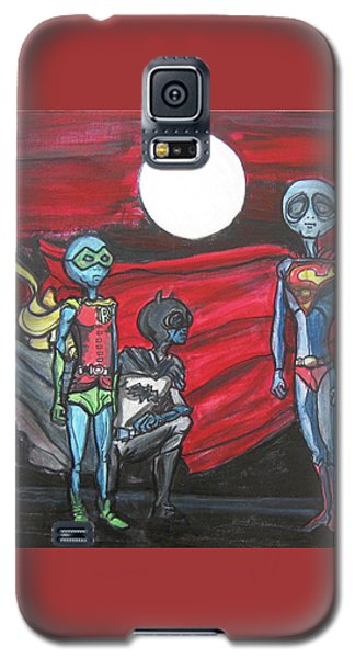 Galaxy S5 Case featuring the painting Alien Superheros by Similar Alien