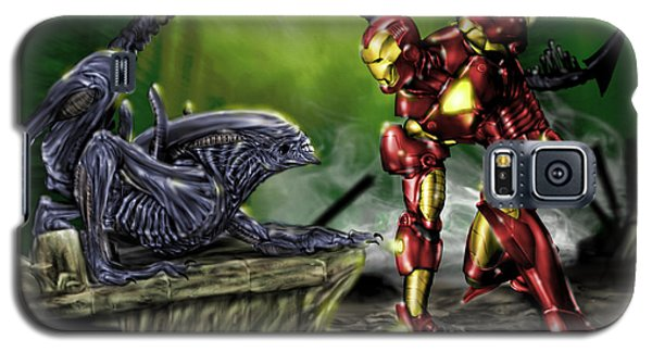 Alien Vs Iron Man Galaxy S5 Case