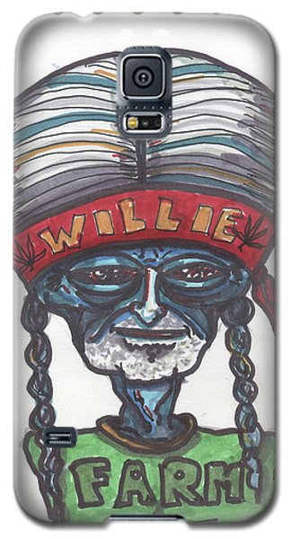 Galaxy S5 Case featuring the drawing alien Willie Nelson by Similar Alien