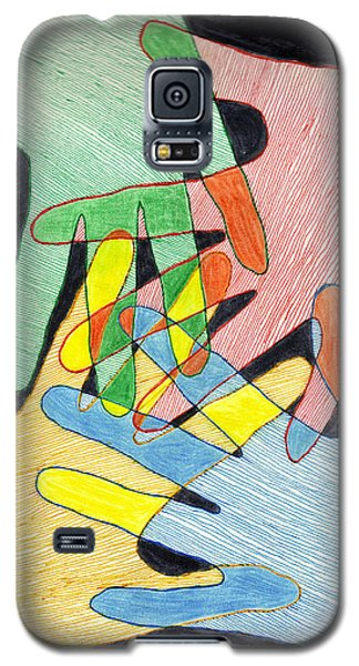 Galaxy S5 Case featuring the mixed media All In by Jean Haynes