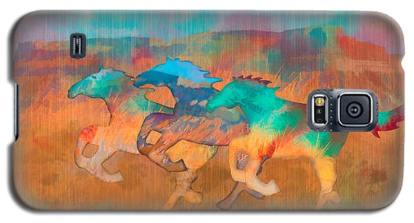 Galaxy S5 Case featuring the digital art All The Pretty Horses by Christina Lihani