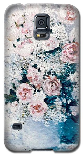 Galaxy S5 Case featuring the painting All White by Sorin Apostolescu