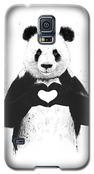 Galaxy S5 Case - All You Need Is Love by Balazs Solti