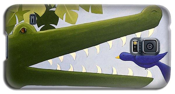 Alligator Galaxy S5 Case - Alligator Nursery Art by Christy Beckwith