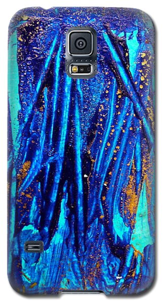 Galaxy S5 Case featuring the painting Alll That Glitters by Mary Sullivan