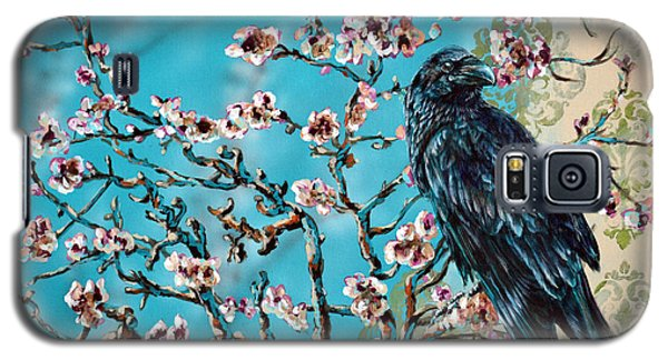 Almond Branch And Raven Galaxy S5 Case