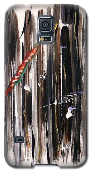 Galaxy S5 Case featuring the painting Almost Vertical by Mary Carol Williams