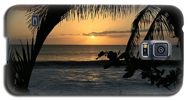 Aloha Aina The Beloved Land - Sunset Kamaole Beach Kihei Maui Hawaii Galaxy S5 Case by Sharon Mau