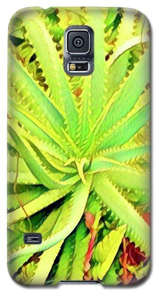 Aloha Aloe In Puna In Lime Galaxy S5 Case