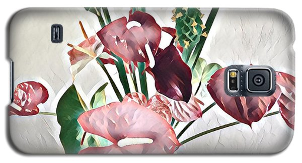 Aloha Bouquet Of The Day - Anthuriums And Green Ginger In Pale Galaxy S5 Case